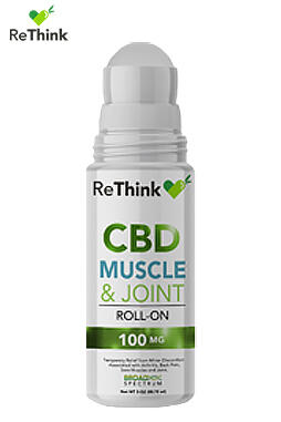 ReThink CBD Muscle & Joint Cream Roll On – 100MG
