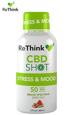 CBD ReThink - ReThink CBD Hemp Shot Stress & Mood – 50MG