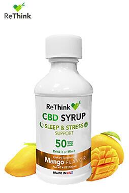 CBD ReThink - ReThink CBD Hemp Syrup – Mango 50MG